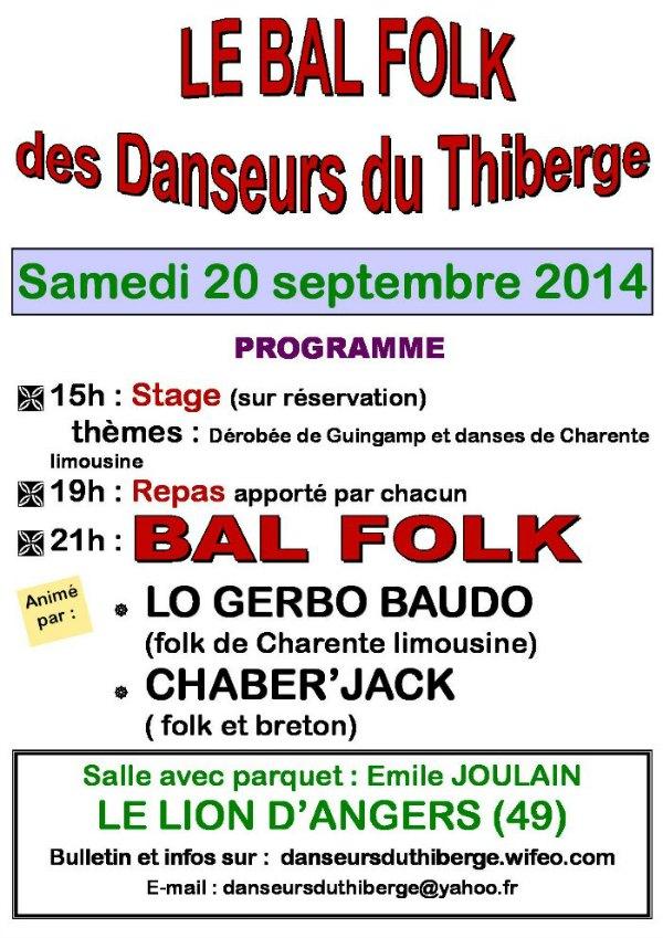 Affiche Bal Folk 2014 Danseurs du Thiberg
